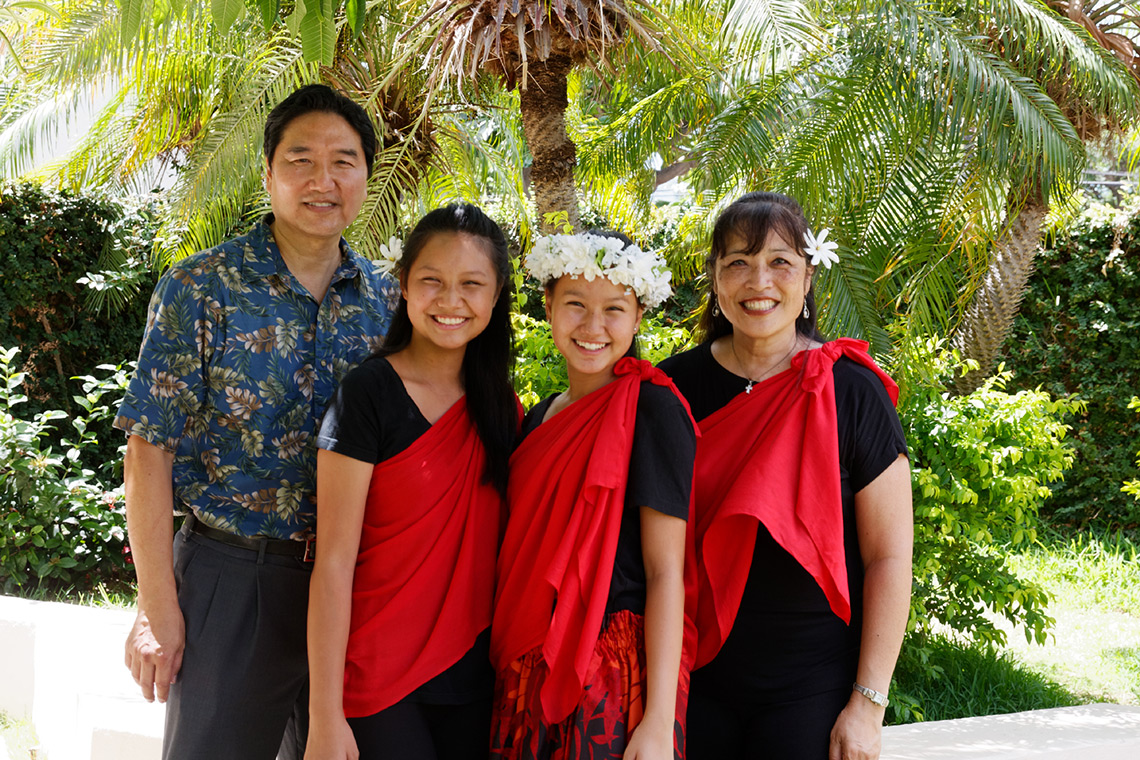 Pastor Tom Choi and Ohana at First United Methodist Church of Honolulu