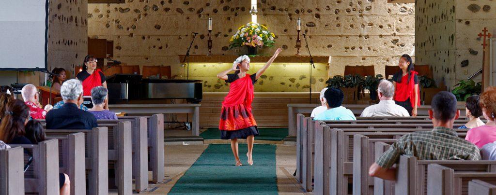 Hula Worship at FUMC